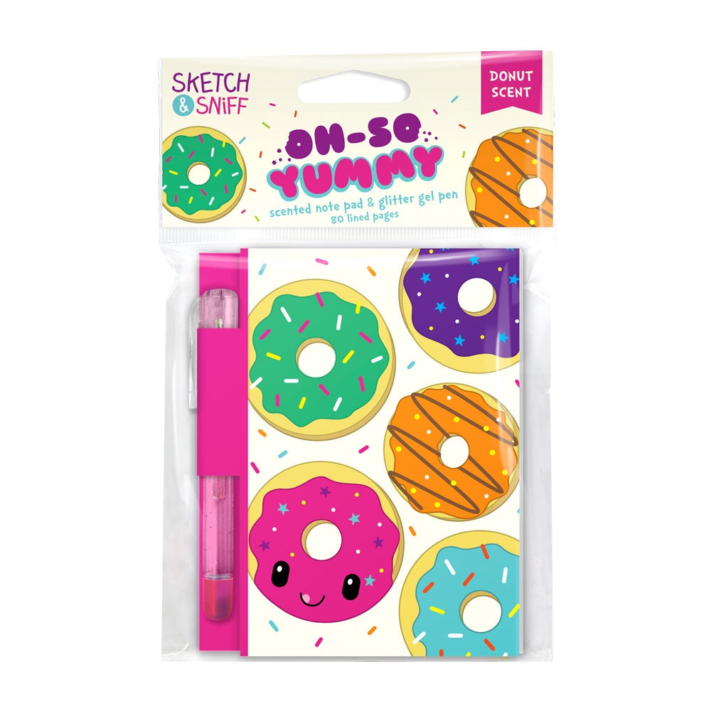 Yummy Sketch & Sniff Donut Scented Notepad with Glitter Gel Pen