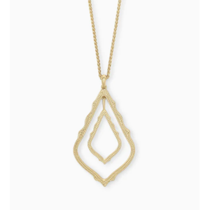 SIMON LONG PENDANT NECKLACE - GOLD