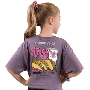 Youth Taco Life (Plum) Simply Southern Tee