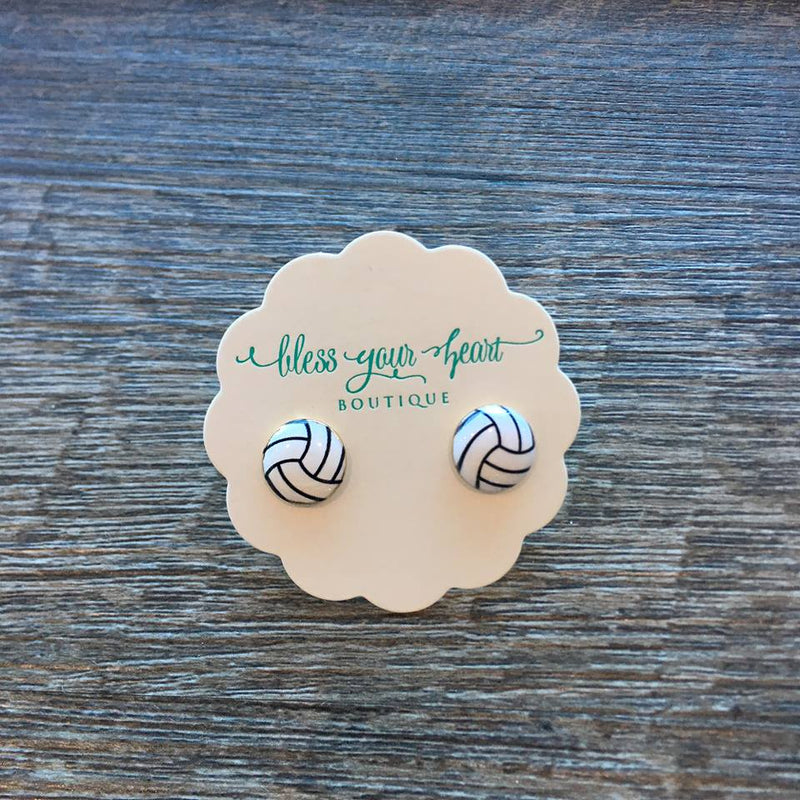 Volleyball Signature Enamel Studs