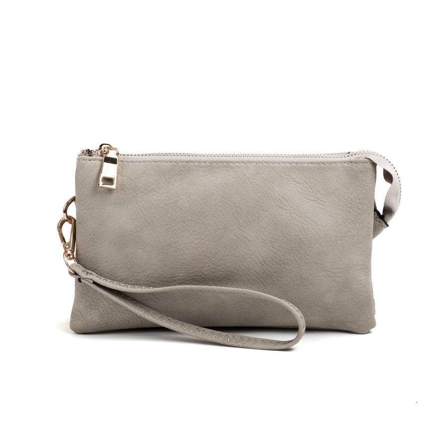 Lt Grey Wristlet Crossbody ($6 to monogram)