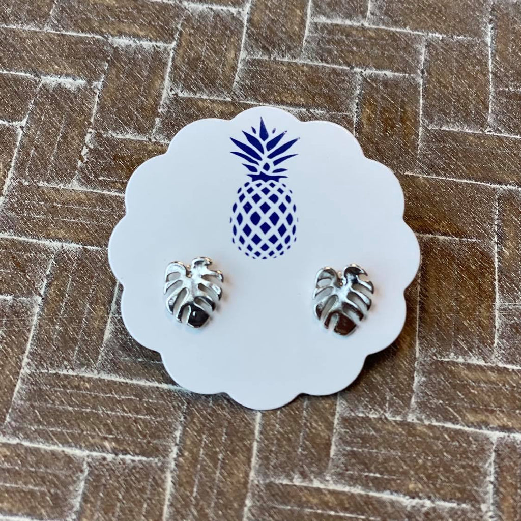 Dainty Palm Leaf Studs