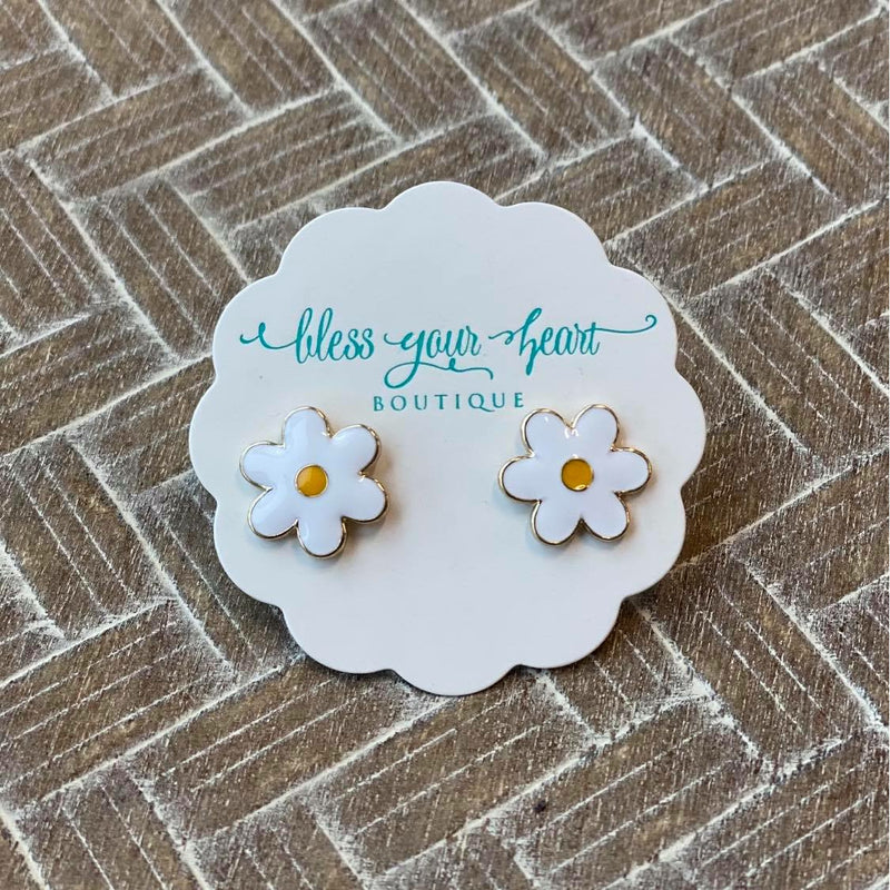Daisy Signature Enamel Stud Earrings