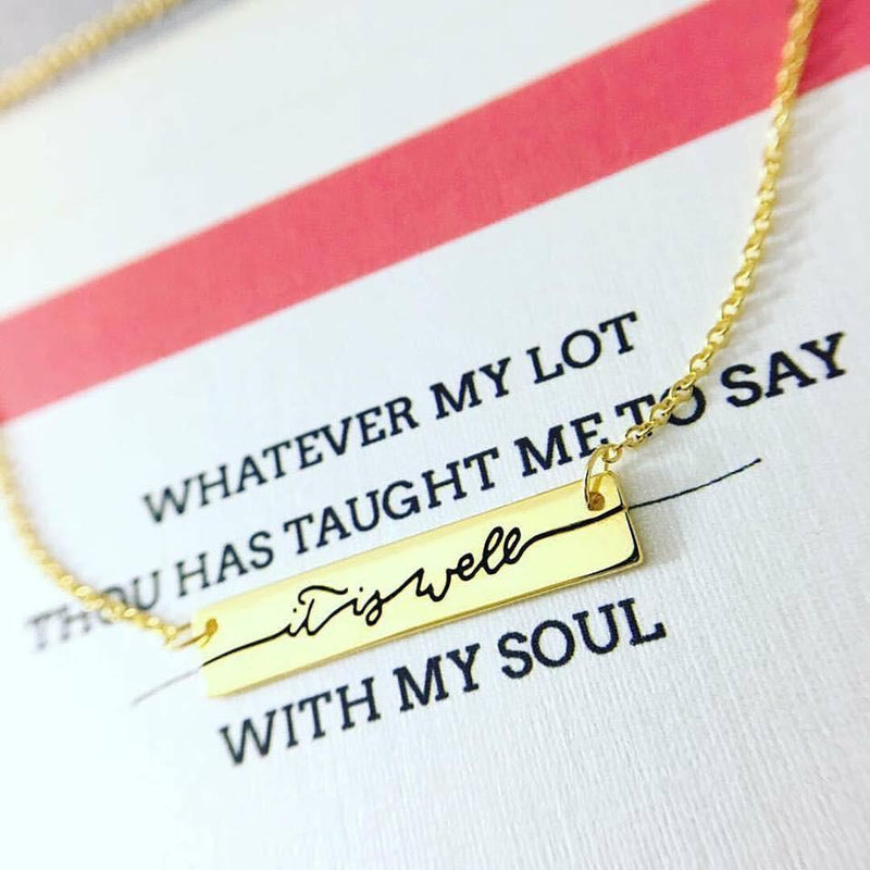It Is Well Necklace (Gold)