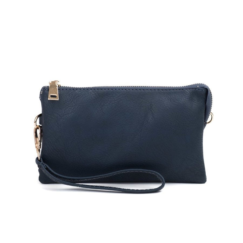 Riley Navy Wristlet Crossbody ($6 to monogram)
