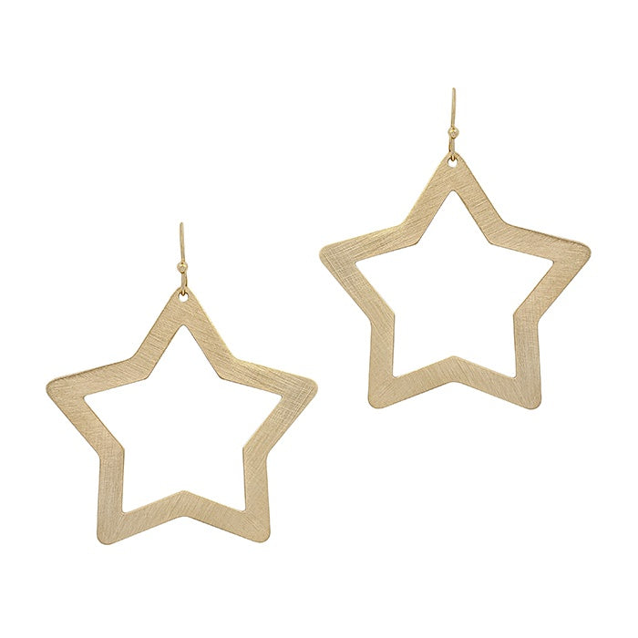 Gold Satin Open Star 2.5
