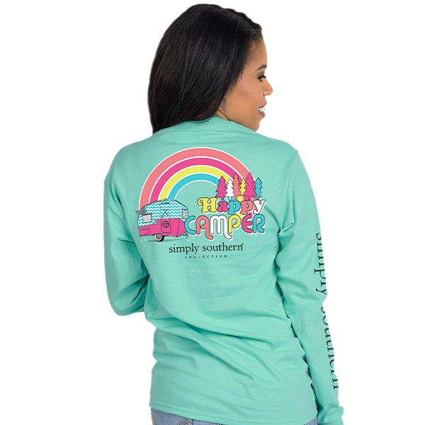 Happy (Aruba) Long Sleeve Simply Southern Tee