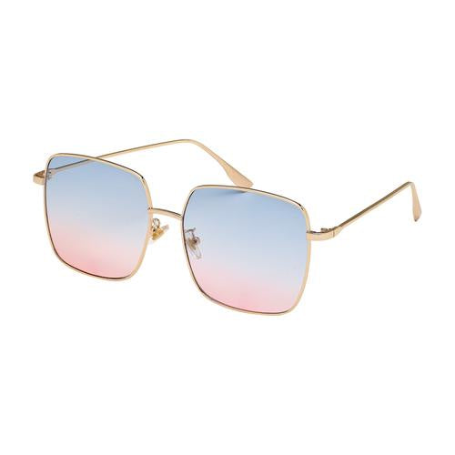 Jade Sunglasses - Gold/Gradient Blue to Pink Lens