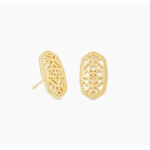ELLIE STUD EARRINGS - GOLD - FILIGREE