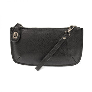 Joy Crossbody Wristlet - Black Python