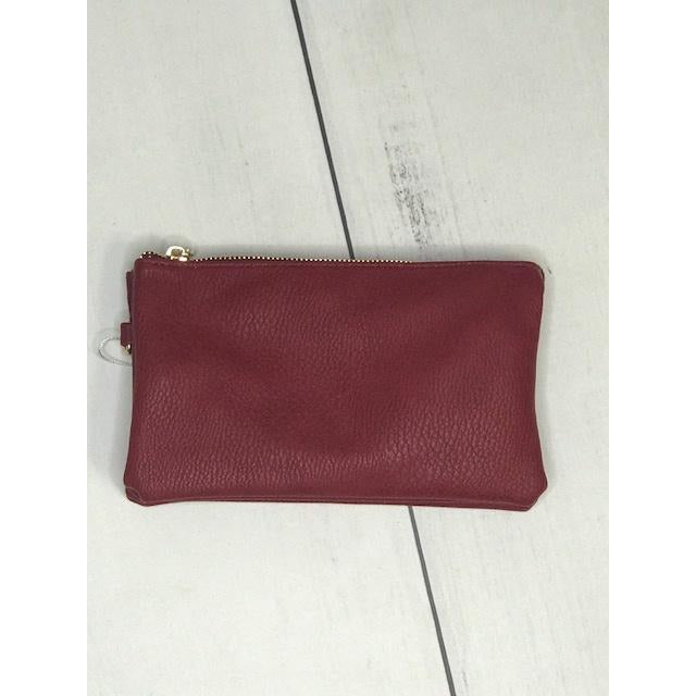 Riley Wine Crossbody Wristlet ($6 to monogram)