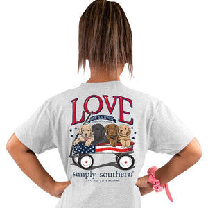 Youth Love (Ash) Simply Southern Tee
