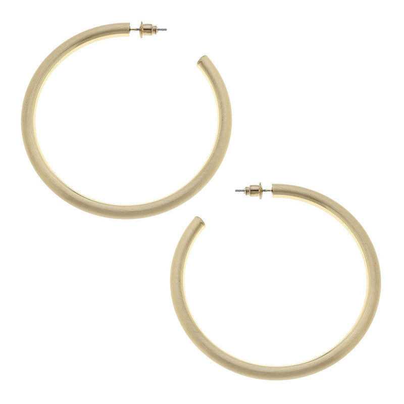 Ivy Satin Hoop Earrings