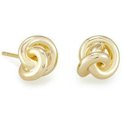 PRESLEIGH LOVE KNOT STUD EARRINGS - GOLD