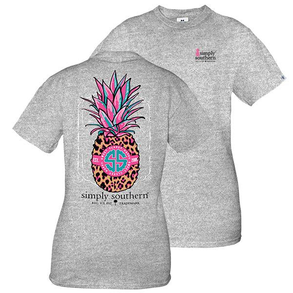 Preppy  Pineapple (HTHRGRY) Simply Southern Tee