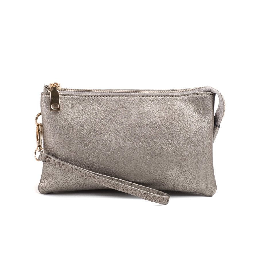 Pewter Wristlet Crossbody ($6 to monogram)