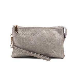 Riley Pewter Wristlet Crossbody ($6 to monogram)