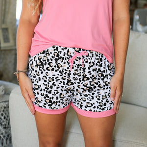 Leopard Sleep Short