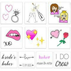 The Bride to Be Pack Temporary Tattoos