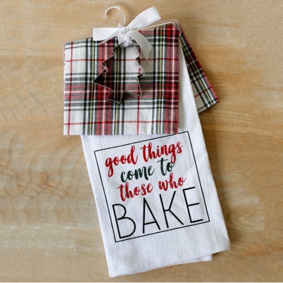Plaid Tidings Hand Towel Gift Set
