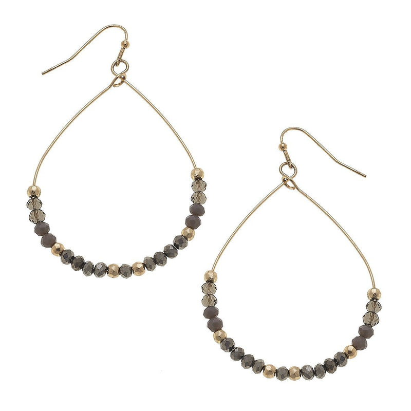 Beaded Glass Teardrop Earrings