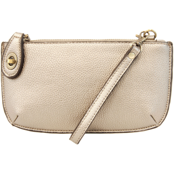 Joy Crossbody Wristlet - Metallic Pearl