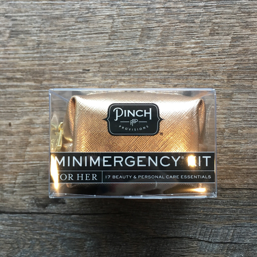 Minimergency Kit for Her-Metallic Saffiano