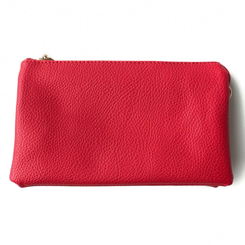Red Wristlet Crossbody ($6 to monogram)