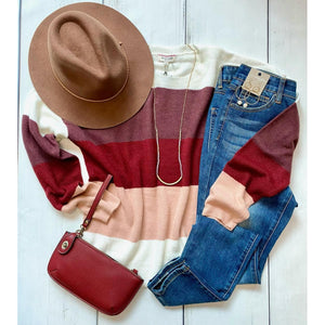 Ruby Color Block Sweater