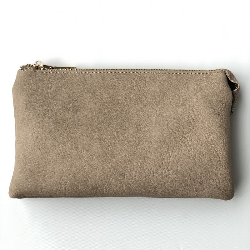 Riley Sand Crossbody Wristlet ($6 to monogram)