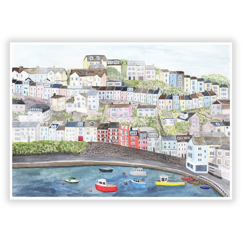 Brixham Harbour Art Print - Sarah Frances