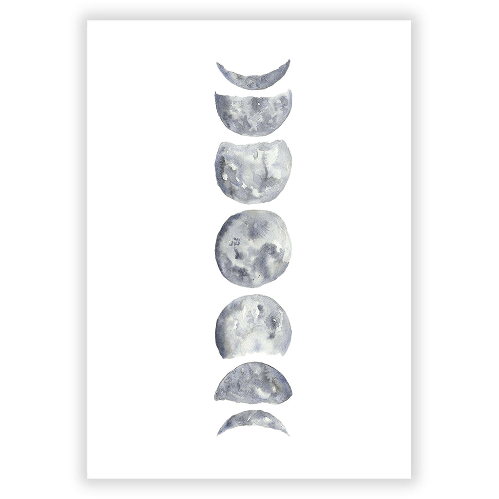Phases of the Moon Art Print - Sarah Frances