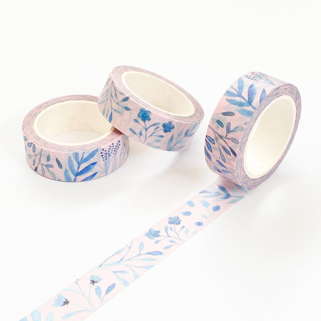 Blue Leaves Washi Tape - Sarah Frances