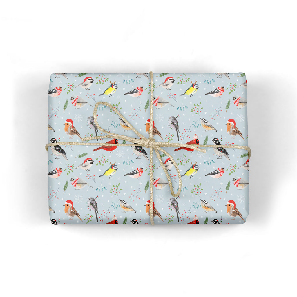 Christmas Birds Wrapping Paper - Sarah Frances