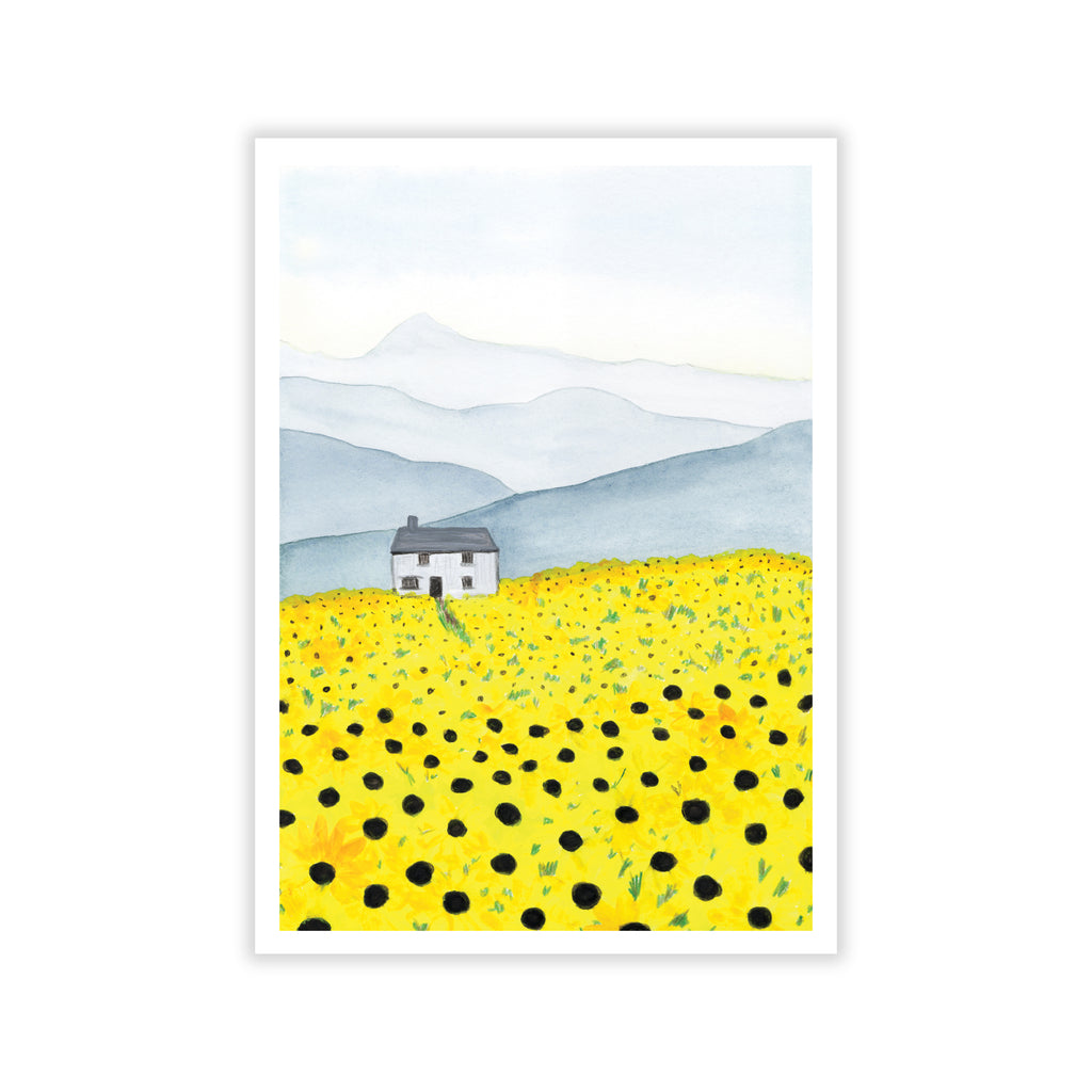 Field of Sunflowers Art Print - Sarah Frances
