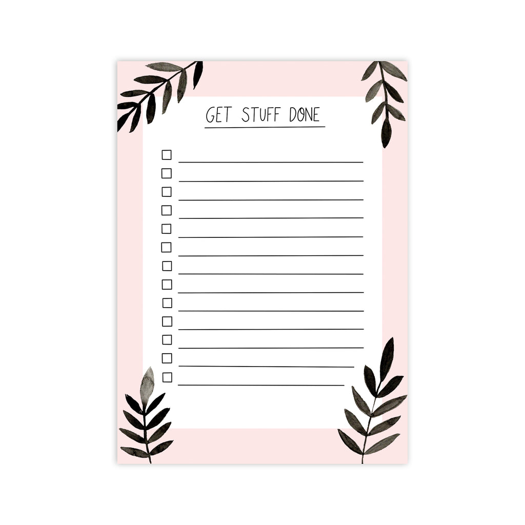 Get Stuff Done To Do List Notepad - Sarah Frances
