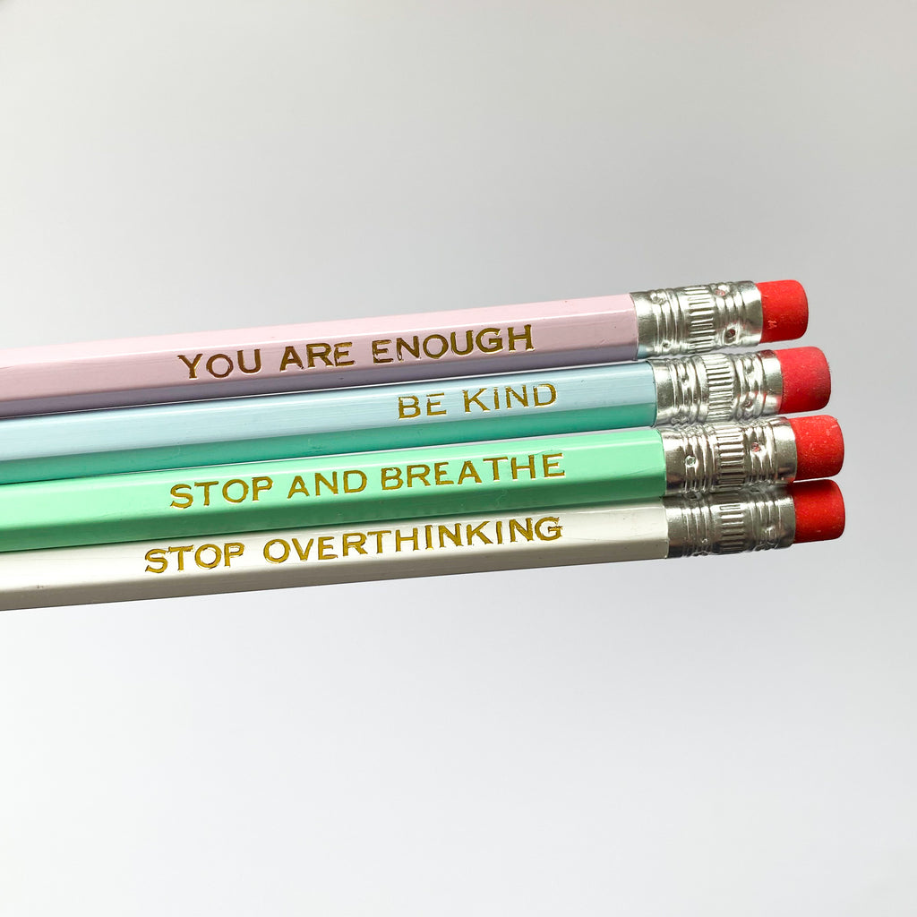 Stop and Breathe Goil Foil Pencil - Sarah Frances
