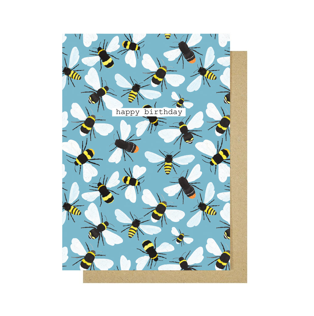 Happy Birthday Bees Greetings Card - Sarah Frances