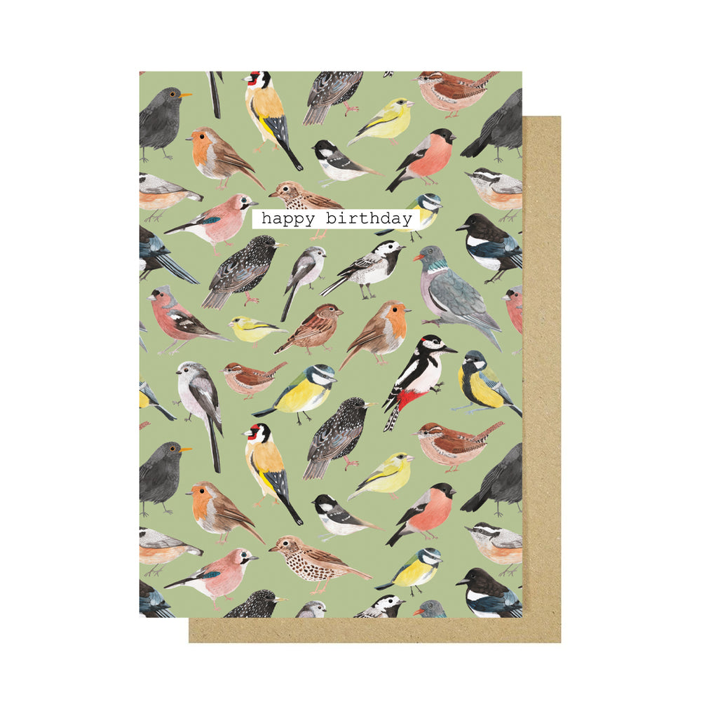 Happy Birthday Birds Greetings Card - Sarah Frances