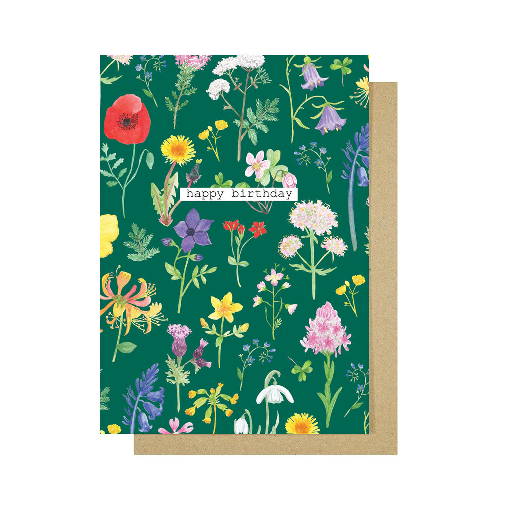 Happy Birthday Wildflowers Greetings Card - Sarah Frances