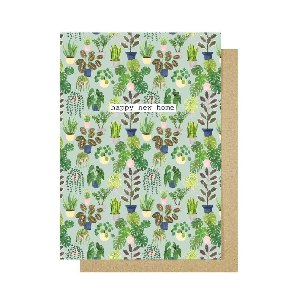 Happy New Home Plants Greetings Card - Sarah Frances