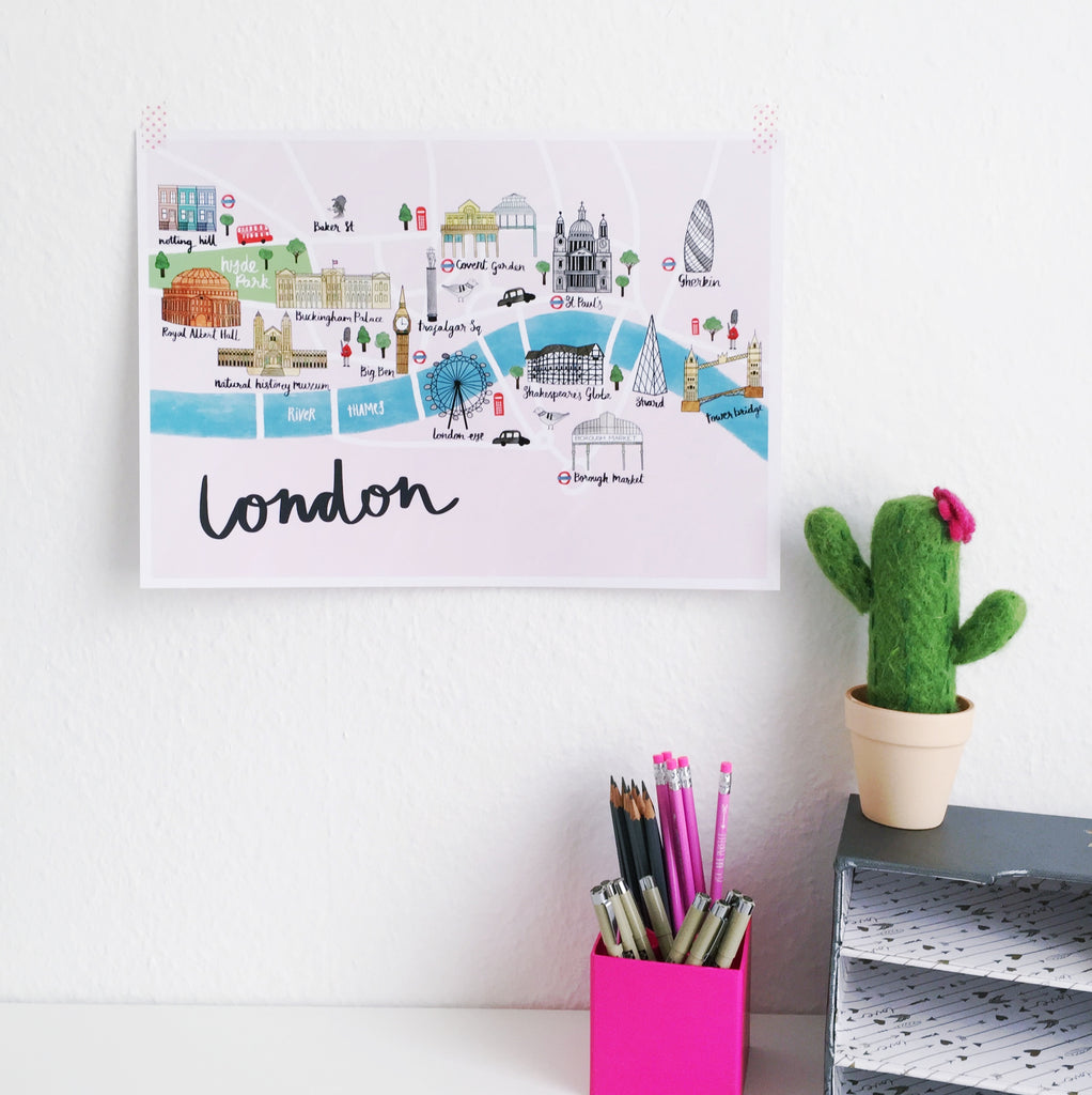 London Map Art Print - Sarah Frances