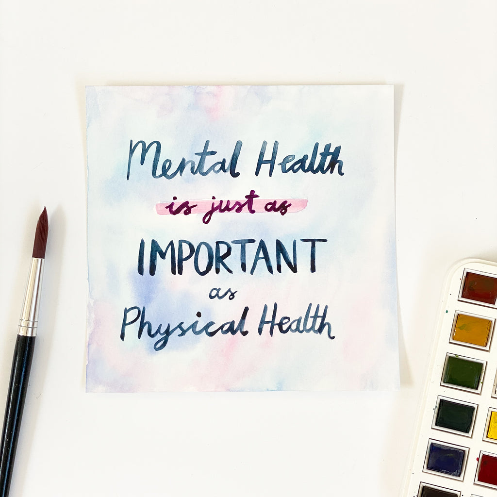Mental Health - Original 15x15cm Watercolour Painting - By Sarah Frances - Sarah Frances