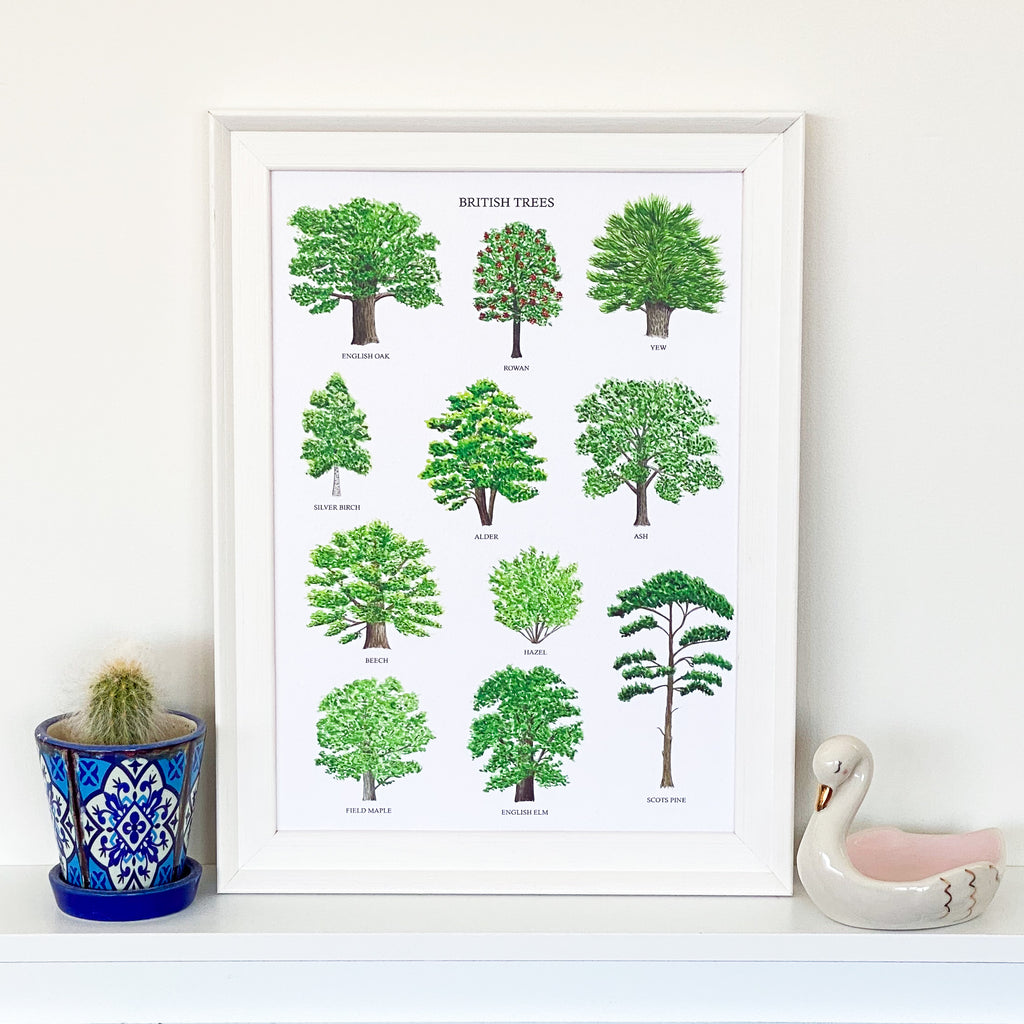 British Trees Art Print - Sarah Frances