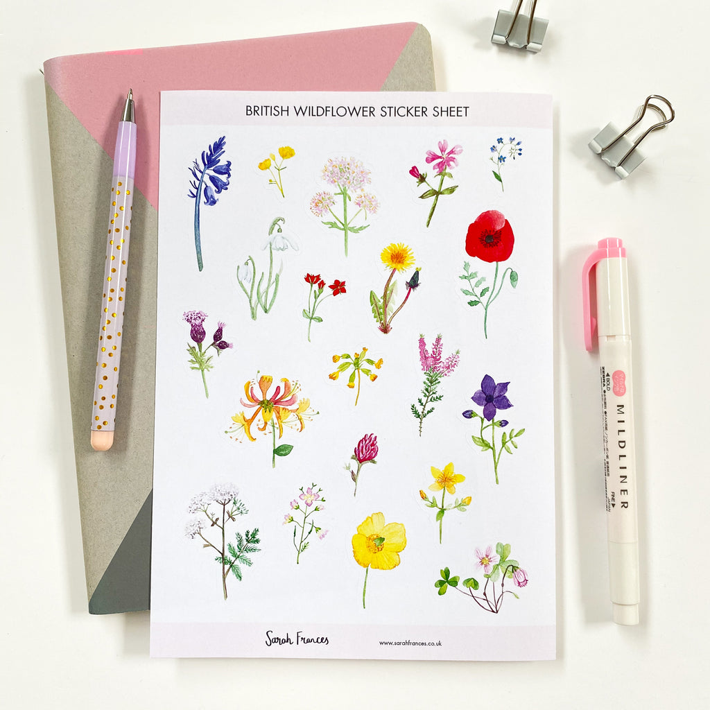 British Wildflower Stickers - Sarah Frances