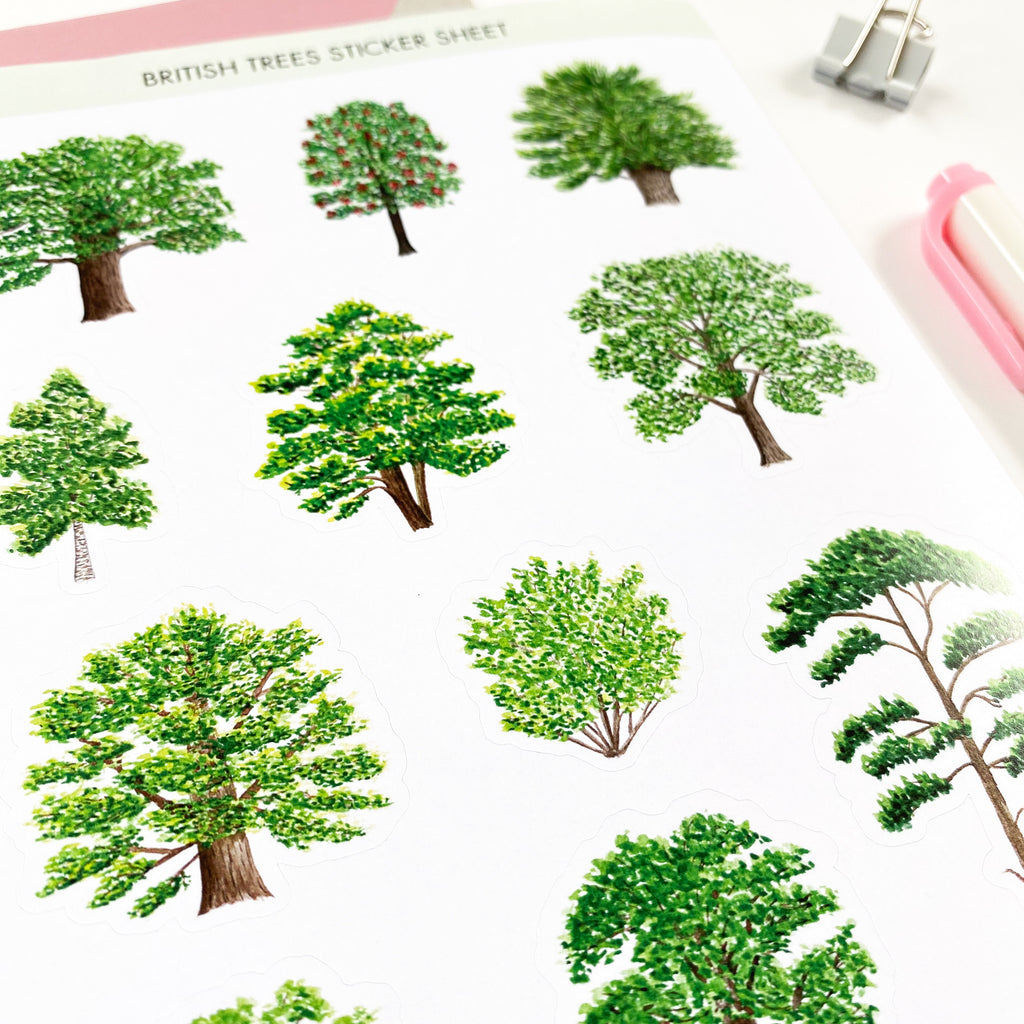 British Trees Stickers - Sarah Frances