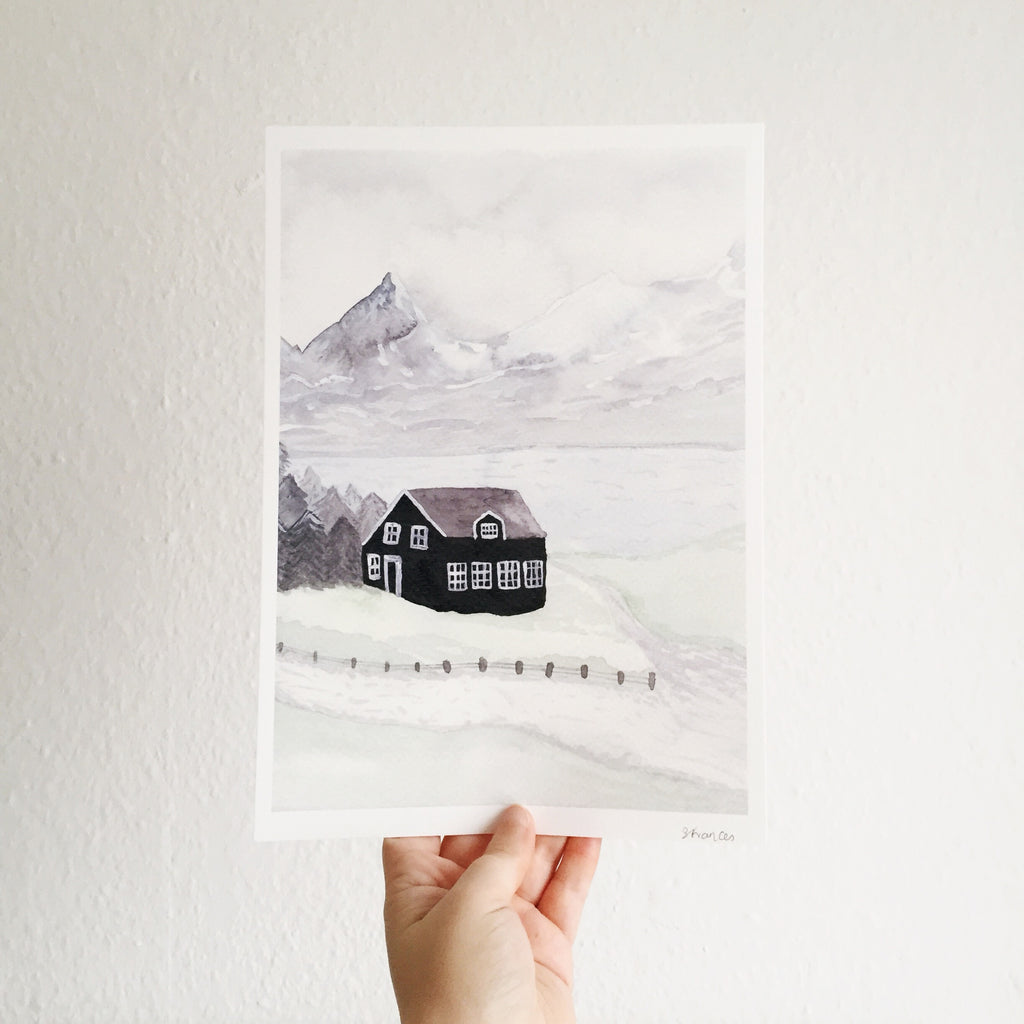 Snowy Mountains Art Print - Sarah Frances