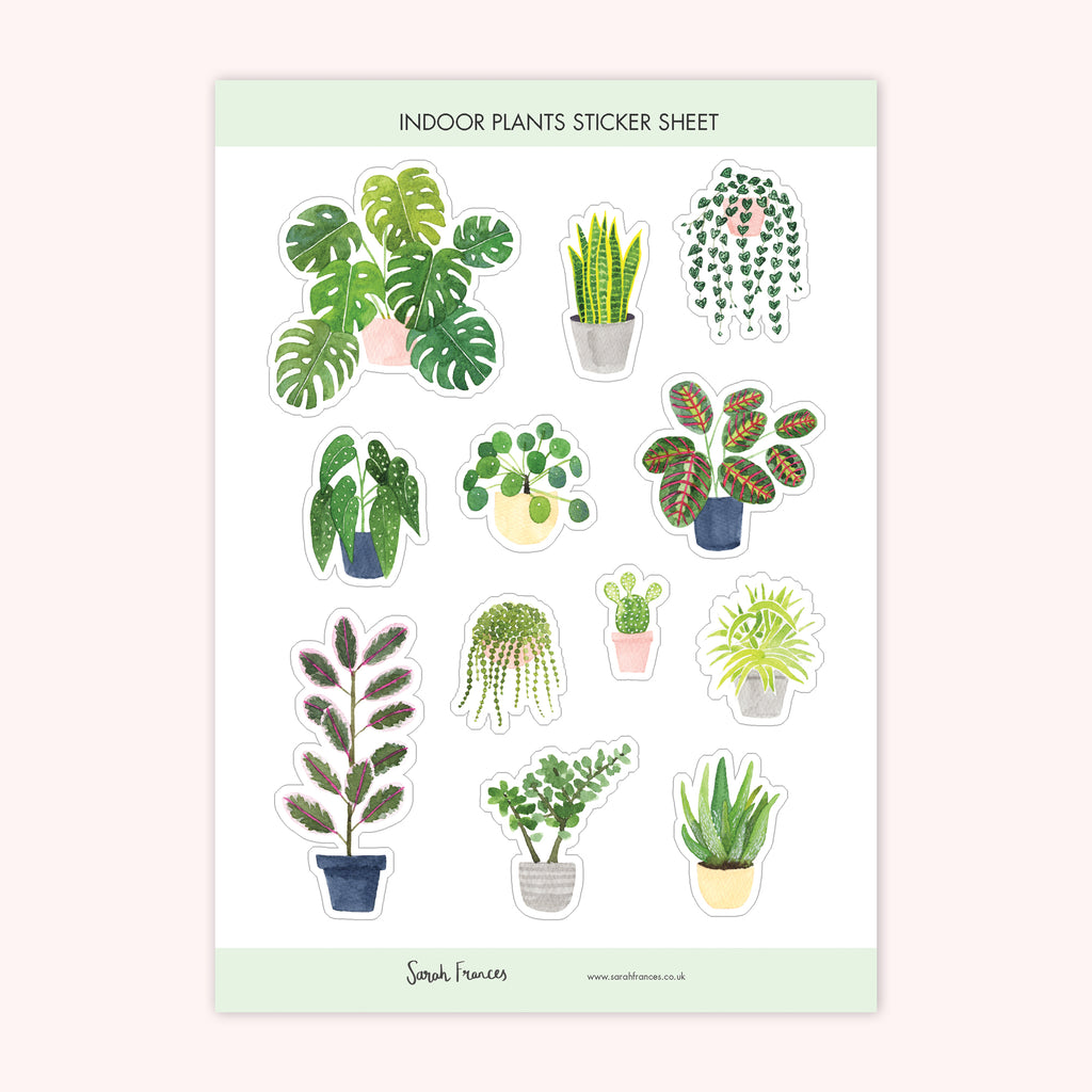 Indoor Plants Stickers - Sarah Frances