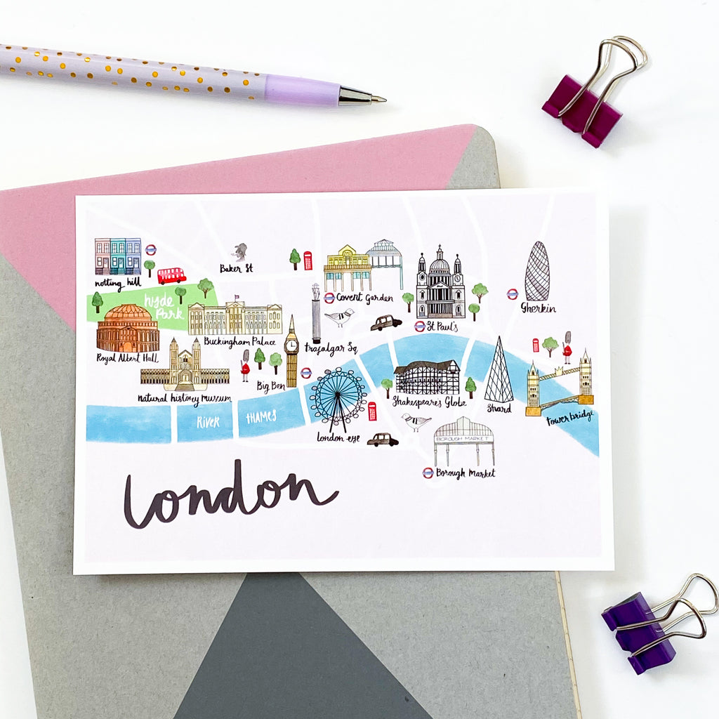 London Map Postcard - Sarah Frances