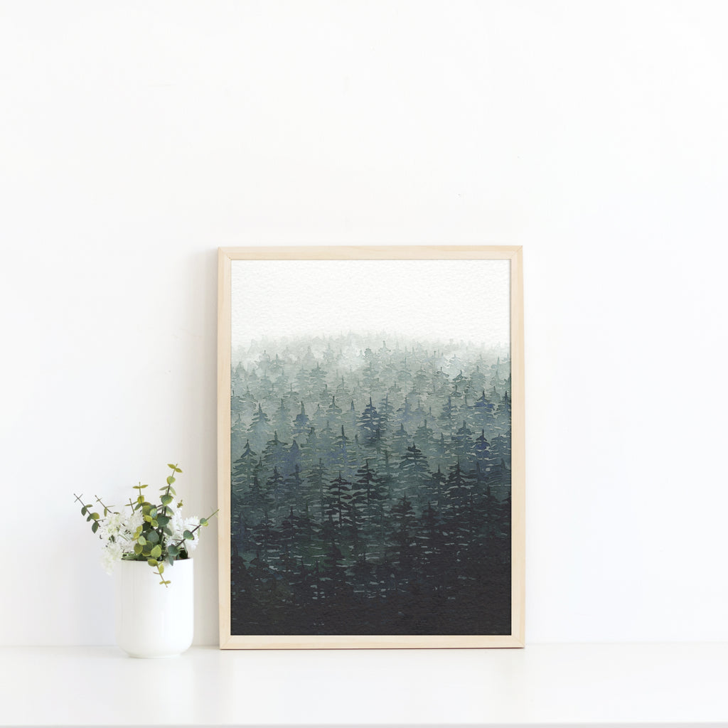 Misty Forest Art Print - Sarah Frances